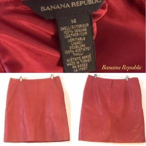 Banana Republic A-line Leather Skirt